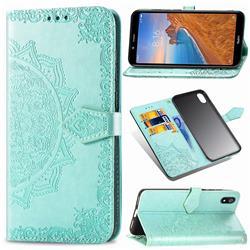 Embossing Imprint Mandala Flower Leather Wallet Case for Mi Xiaomi Redmi 7A - Green