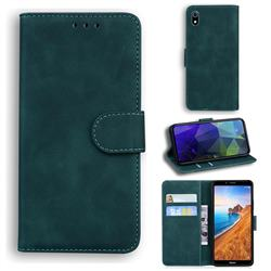 Retro Classic Skin Feel Leather Wallet Phone Case for Mi Xiaomi Redmi 7A - Green