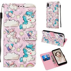 Angel Pony 3D Painted Leather Wallet Case for Mi Xiaomi Redmi 7A