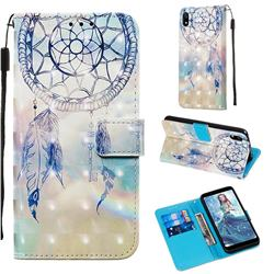 Fantasy Campanula 3D Painted Leather Wallet Case for Mi Xiaomi Redmi 7A