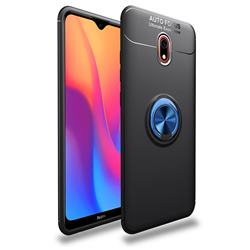 Auto Focus Invisible Ring Holder Soft Phone Case for Mi Xiaomi Redmi 8 - Black Blue