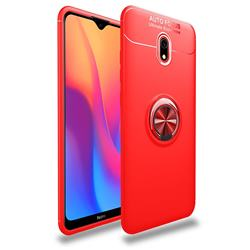 Auto Focus Invisible Ring Holder Soft Phone Case for Mi Xiaomi Redmi 8 - Red