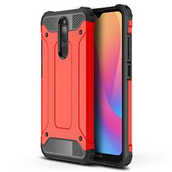 King Kong Armor Premium Shockproof Dual Layer Rugged Hard Cover for Mi Xiaomi Redmi 8 - Big Red