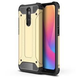 King Kong Armor Premium Shockproof Dual Layer Rugged Hard Cover for Mi Xiaomi Redmi 8 - Champagne Gold