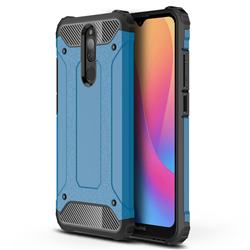 King Kong Armor Premium Shockproof Dual Layer Rugged Hard Cover for Mi Xiaomi Redmi 8 - Sky Blue