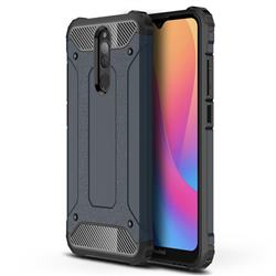 King Kong Armor Premium Shockproof Dual Layer Rugged Hard Cover for Mi Xiaomi Redmi 8 - Navy