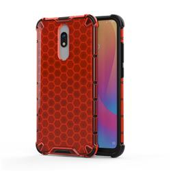 Honeycomb TPU + PC Hybrid Armor Shockproof Case Cover for Mi Xiaomi Redmi 8 - Red