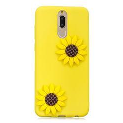 Yellow Sunflower Soft 3D Silicone Case for Mi Xiaomi Redmi 8