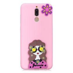 Violet Girl Soft 3D Silicone Case for Mi Xiaomi Redmi 8