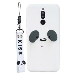 White Feather Panda Soft Kiss Candy Hand Strap Silicone Case for Mi Xiaomi Redmi 8