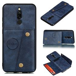 Retro Multifunction Card Slots Stand Leather Coated Phone Back Cover for Mi Xiaomi Redmi 8 - Blue
