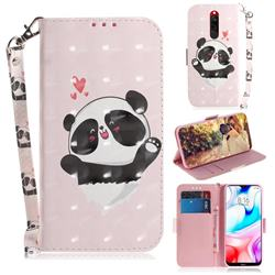 Heart Cat 3D Painted Leather Wallet Phone Case for Mi Xiaomi Redmi 8