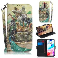 Beast Zoo 3D Painted Leather Wallet Phone Case for Mi Xiaomi Redmi 8