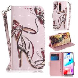 Butterfly High Heels 3D Painted Leather Wallet Phone Case for Mi Xiaomi Redmi 8