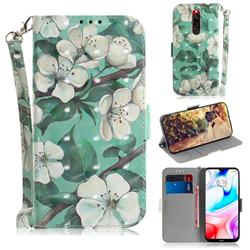 Watercolor Flower 3D Painted Leather Wallet Phone Case for Mi Xiaomi Redmi 8