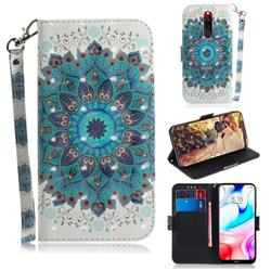Peacock Mandala 3D Painted Leather Wallet Phone Case for Mi Xiaomi Redmi 8