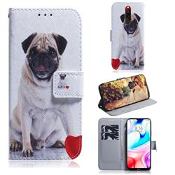 Pug Dog PU Leather Wallet Case for Mi Xiaomi Redmi 8