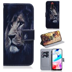 Lion Face PU Leather Wallet Case for Mi Xiaomi Redmi 8
