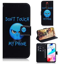 Not Touch My Phone PU Leather Wallet Case for Mi Xiaomi Redmi 8
