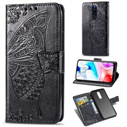 Embossing Mandala Flower Butterfly Leather Wallet Case for Mi Xiaomi Redmi 8 - Black
