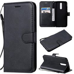 Retro Greek Classic Smooth PU Leather Wallet Phone Case for Mi Xiaomi Redmi 8 - Black