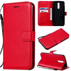 Retro Greek Classic Smooth PU Leather Wallet Phone Case for Mi Xiaomi Redmi 8 - Red