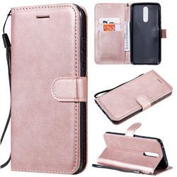 Retro Greek Classic Smooth PU Leather Wallet Phone Case for Mi Xiaomi Redmi 8 - Rose Gold