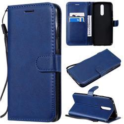 Retro Greek Classic Smooth PU Leather Wallet Phone Case for Mi Xiaomi Redmi 8 - Blue
