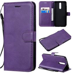 Retro Greek Classic Smooth PU Leather Wallet Phone Case for Mi Xiaomi Redmi 8 - Purple