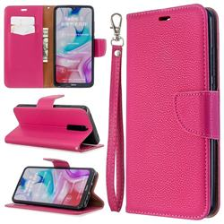 Classic Luxury Litchi Leather Phone Wallet Case for Mi Xiaomi Redmi 8 - Rose