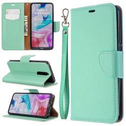Classic Luxury Litchi Leather Phone Wallet Case for Mi Xiaomi Redmi 8 - Green