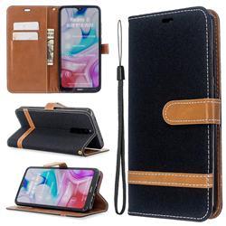 Jeans Cowboy Denim Leather Wallet Case for Mi Xiaomi Redmi 8 - Black