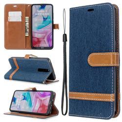 Jeans Cowboy Denim Leather Wallet Case for Mi Xiaomi Redmi 8 - Dark Blue