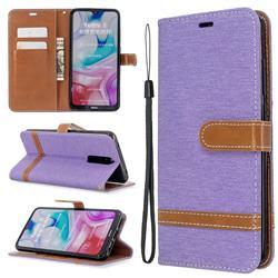 Jeans Cowboy Denim Leather Wallet Case for Mi Xiaomi Redmi 8 - Purple