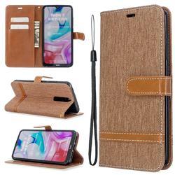 Jeans Cowboy Denim Leather Wallet Case for Mi Xiaomi Redmi 8 - Brown