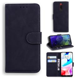 Retro Classic Skin Feel Leather Wallet Phone Case for Mi Xiaomi Redmi 8 - Black