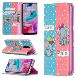 Elephant Boy and Girl Slim Magnetic Attraction Wallet Flip Cover for Mi Xiaomi Redmi 8