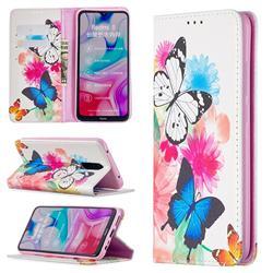 Flying Butterflies Slim Magnetic Attraction Wallet Flip Cover for Mi Xiaomi Redmi 8