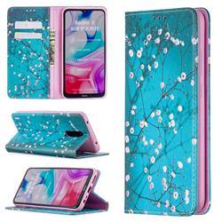 Plum Blossom Slim Magnetic Attraction Wallet Flip Cover for Mi Xiaomi Redmi 8