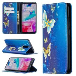 Gold Butterfly Slim Magnetic Attraction Wallet Flip Cover for Mi Xiaomi Redmi 8