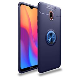 Auto Focus Invisible Ring Holder Soft Phone Case for Mi Xiaomi Redmi 8A - Blue