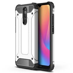 King Kong Armor Premium Shockproof Dual Layer Rugged Hard Cover for Mi Xiaomi Redmi 8A - White