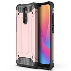 King Kong Armor Premium Shockproof Dual Layer Rugged Hard Cover for Mi Xiaomi Redmi 8A - Rose Gold