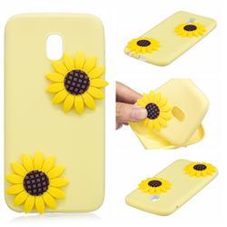 Yellow Sunflower Soft 3D Silicone Case for Mi Xiaomi Redmi 8A