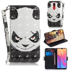 Angry Bear 3D Painted Leather Wallet Phone Case for Mi Xiaomi Redmi 8A