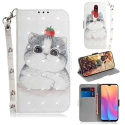 Cute Tomato Cat 3D Painted Leather Wallet Phone Case for Mi Xiaomi Redmi 8A