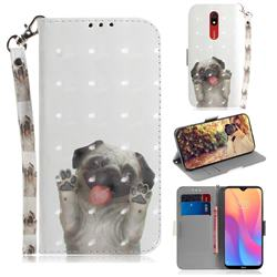 Pug Dog 3D Painted Leather Wallet Phone Case for Mi Xiaomi Redmi 8A