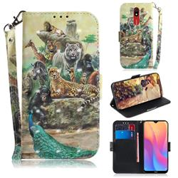 Beast Zoo 3D Painted Leather Wallet Phone Case for Mi Xiaomi Redmi 8A
