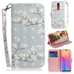 Magnolia Flower 3D Painted Leather Wallet Phone Case for Mi Xiaomi Redmi 8A