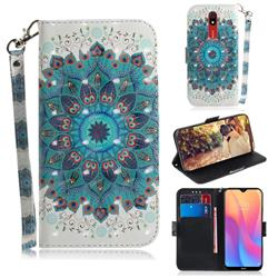 Peacock Mandala 3D Painted Leather Wallet Phone Case for Mi Xiaomi Redmi 8A